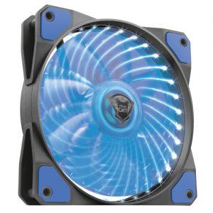 TRUST GXT 762B LED ILLUMINATED SILENT PC CASE FAN – BLACK/BLUE