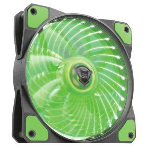 TRUST GXT 762B LED ILLUMINATED SILENT PC CASE FAN – BLACK/GREEN