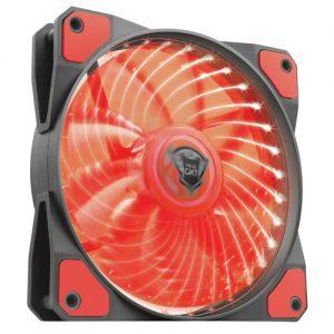 TRUST GXT 762B LED ILLUMINATED SILENT PC CASE FAN – BLACK/RED