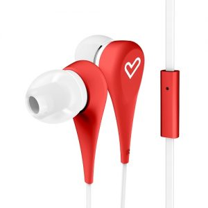 ENERGY EARPHONES STYLE 1 RED C/MICROFONO FLAT CABLE