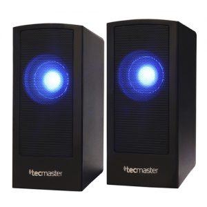 TECMASTER PARLANTE DE ESCRITORIO USB 2.0, CON LUZ LED